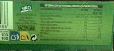 Barritas de cereales muesli con avellanas y almendras - Informació nutricional - en