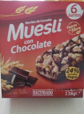 Barritas de cereales muesli con chocolate - Producto