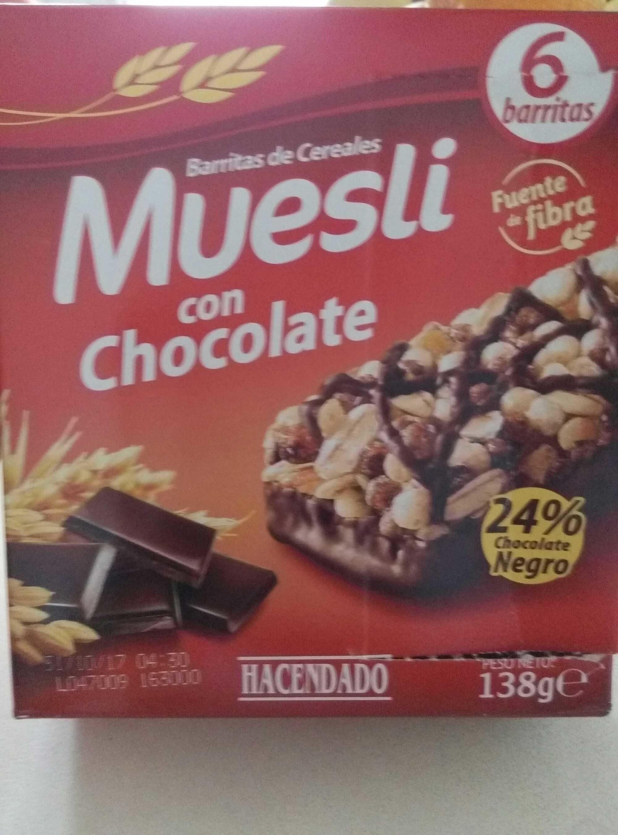 Barritas de cereales muesli con chocolate - Product - es