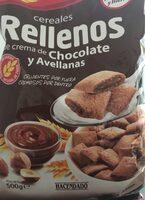 Cereales rellenos de crema de chocolate y avellanas - Producto - es