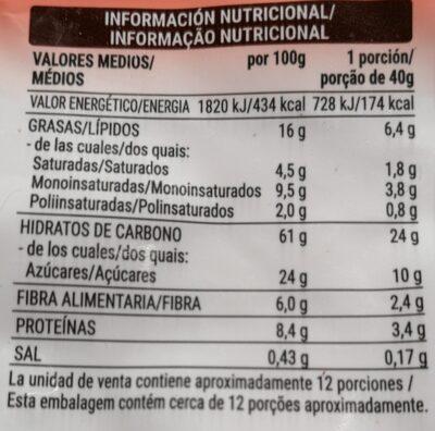 Muesli crunchy chocolate - Información nutricional - es