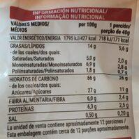 Muesli Crujiente Con Frutas - Informació nutricional