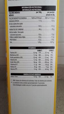 Copos de maíz - Información nutricional - es