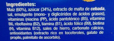 Copos de maíz azucarados - Ingredientes