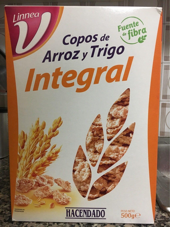 Copos De Arroz Y Trigo Integral Hacendado 500 G E