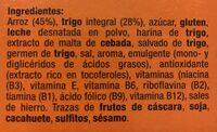 Copos de arroz y trigo integral - Ingredientes - es