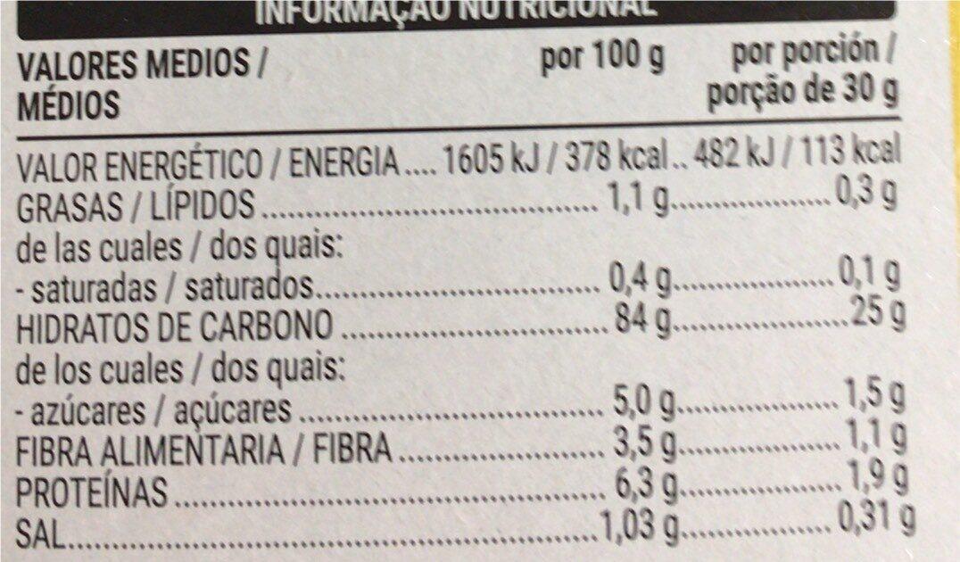 Corn Flakes - Informació nutricional - pt