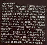 Copos de arroz, trigo y Canada integral con chocolate - Ingredientes