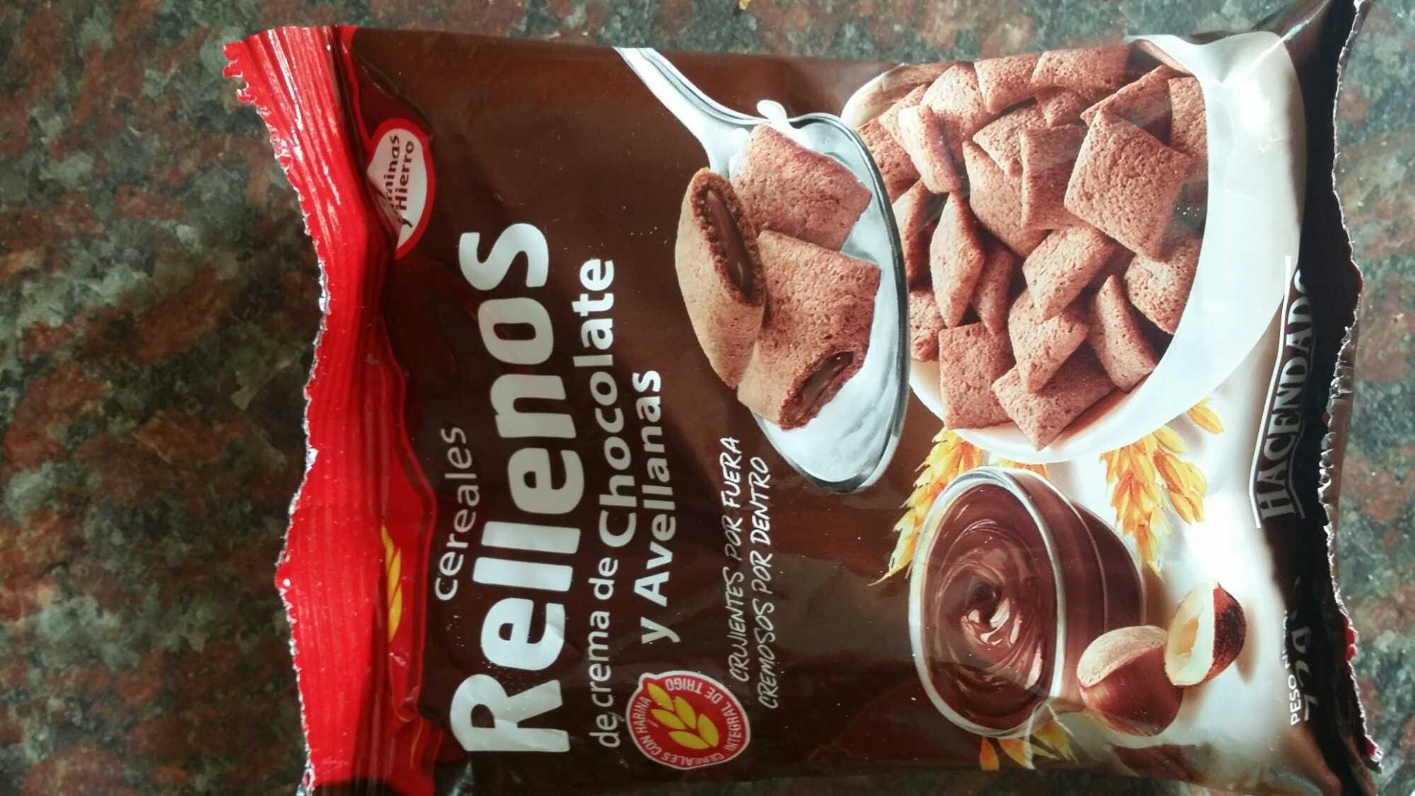 Cereales rellenos con crema de chocolate y avellanas - Producto