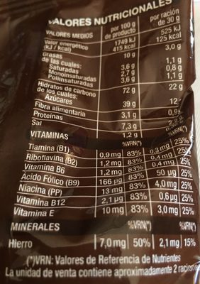Cereales Rellenos, De Crema De Chocolate y Avellan. . . - Informació nutricional