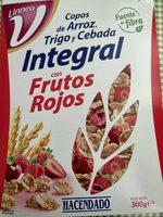 Copos de arroz, trigo y cebada integral con frutos rojos - Producto