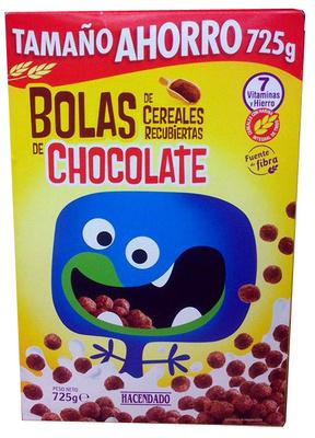 Bolas de cereales recubiertas de chocolate - Producte
