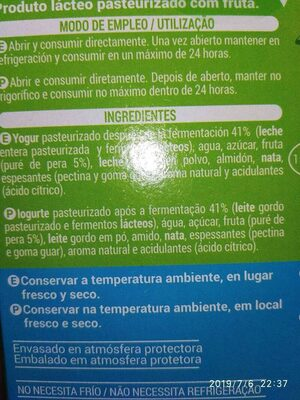 Go-lácteo - Ingredients