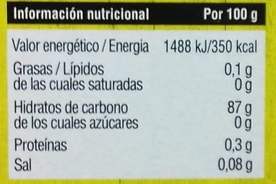 Harina fina de maíz - Información nutricional - es