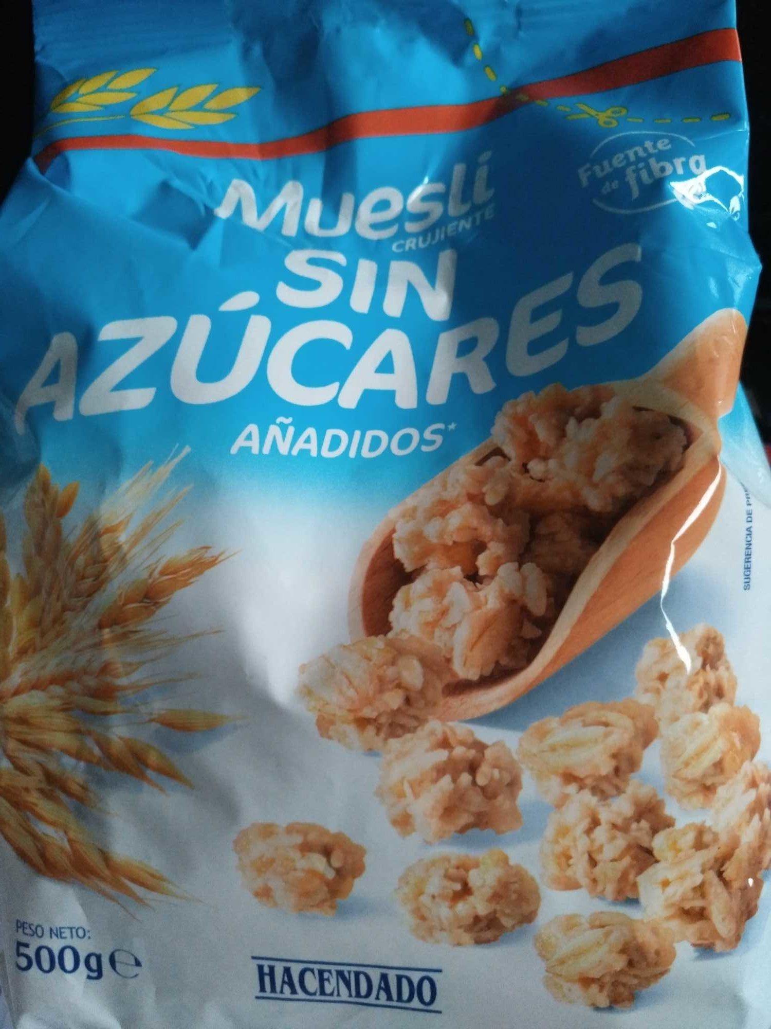 Muesli sin azúcares añadidos Hacendado - Produit