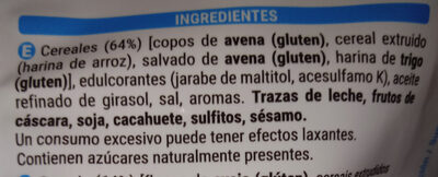 Muesli sin azúcares añadidos Hacendado - Ingrédients