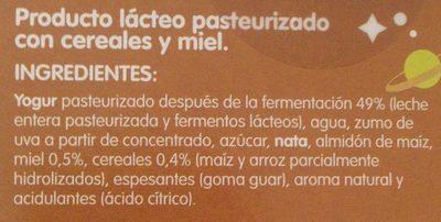Go-Lácteo - Ingredientes