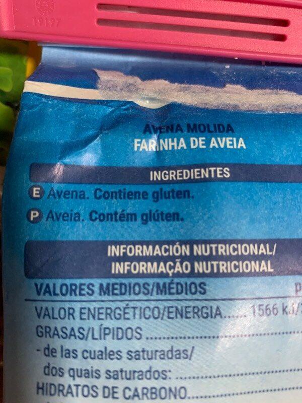 Avena molida - Ingredientes