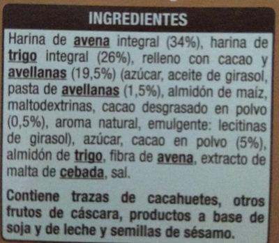 Cereales con fibra sabor chocolate - Ingredients - es