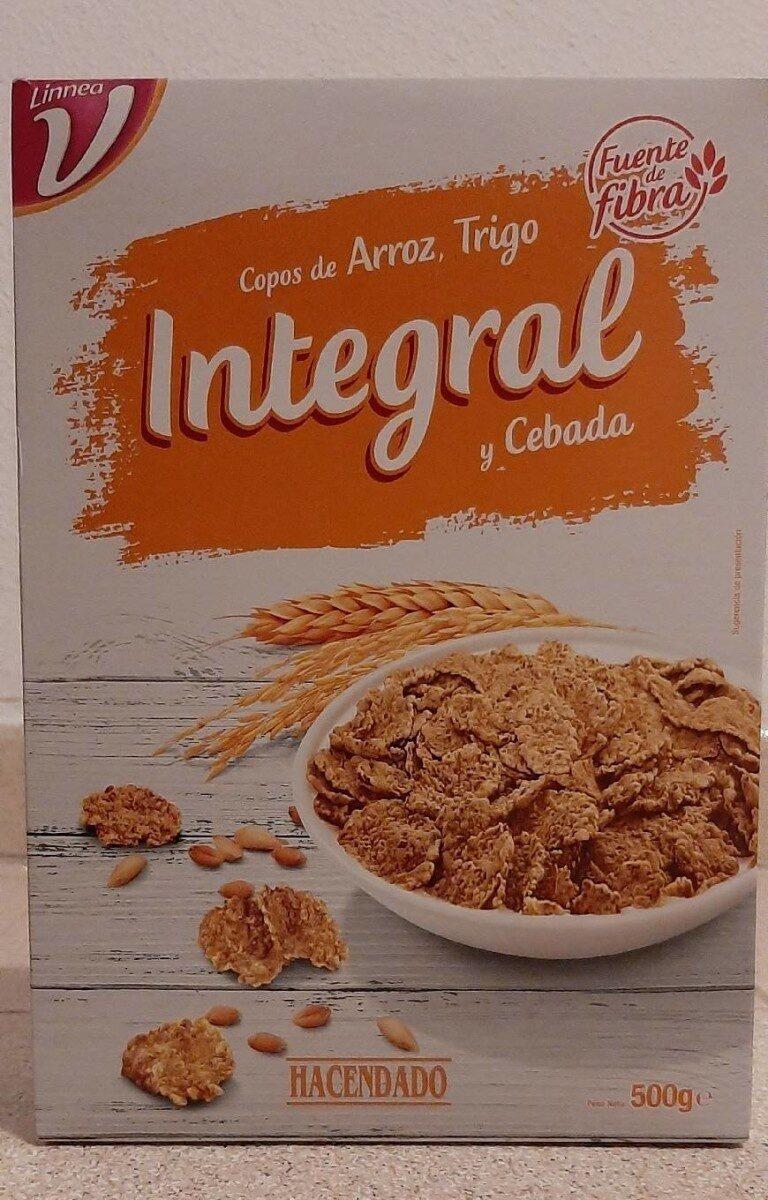 Copos De Arroz Trigo Integral Y Cebada Hacendado 500 G