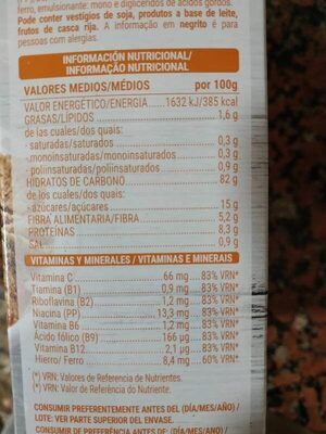 Classic - Nutrition facts - es