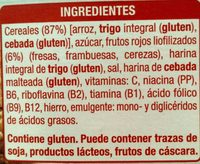 Copos de arroz frutos rojos - Ingredients - es