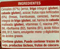 Cereales Frutos Rojos - Ingrédients