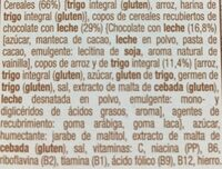 Chocolate con leche - Ingredients