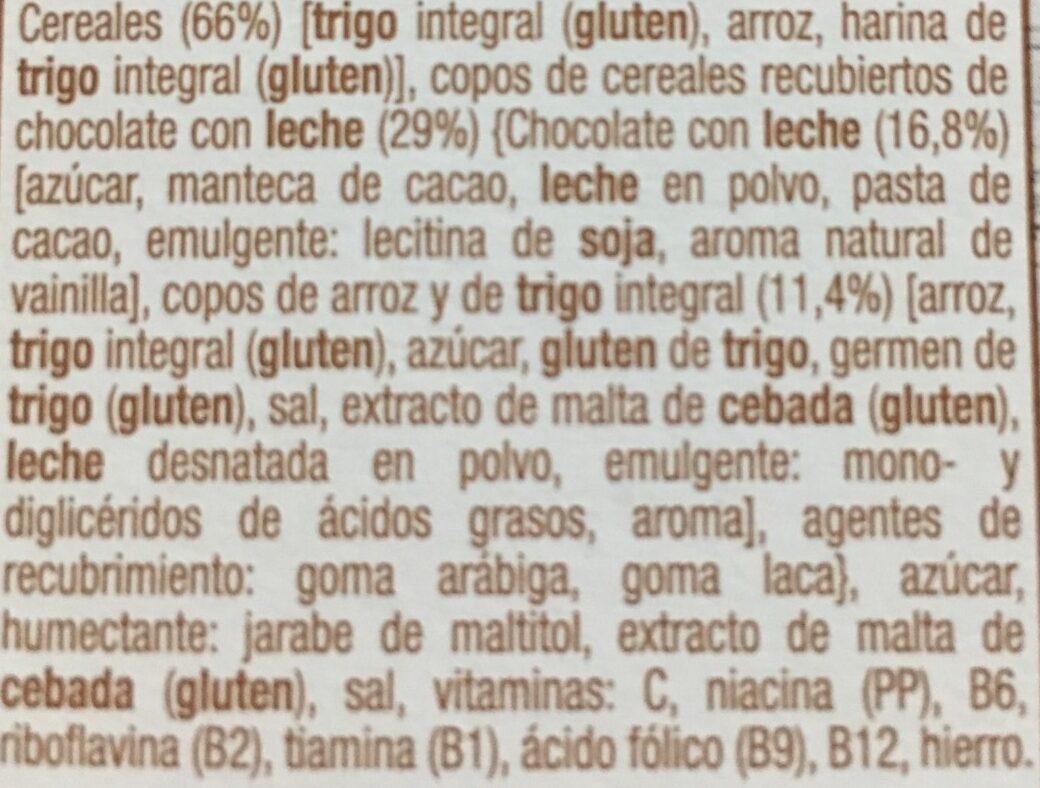 Copos de trigo con chocolate con leche - Ingredientes