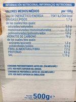 Copos de trigo integral y arroz - Informations nutritionnelles