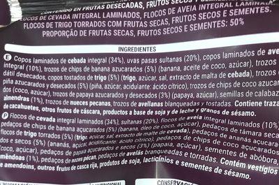 Muesli 50% frutas & frutos secos - Ingredients - es