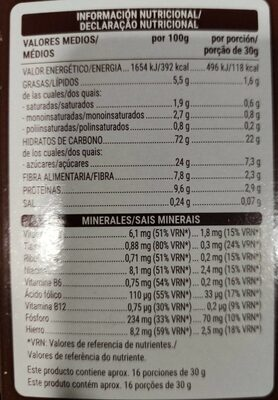 Chocodays - Nutrition facts