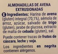 Avena crujiente - Ingredientes