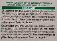 Barrita Con Cacahuete Avellanas Y Semillas - Ingrédients