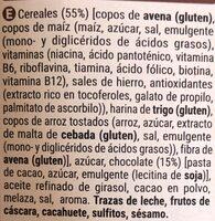 Muesli crunchy chocolate - Ingredientes