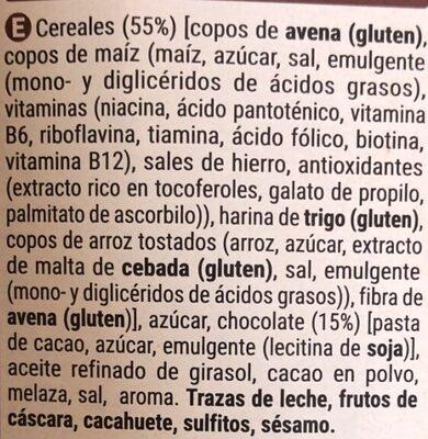 Muesli crunchy chocolate - Ingredients