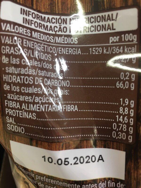 Trigo espelta 0% - Información nutricional - es
