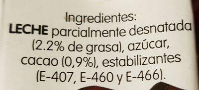 Batido de chocolate - Ingrédients - fr
