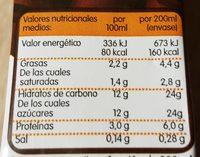 Batido de chocolate - Informations nutritionnelles - fr