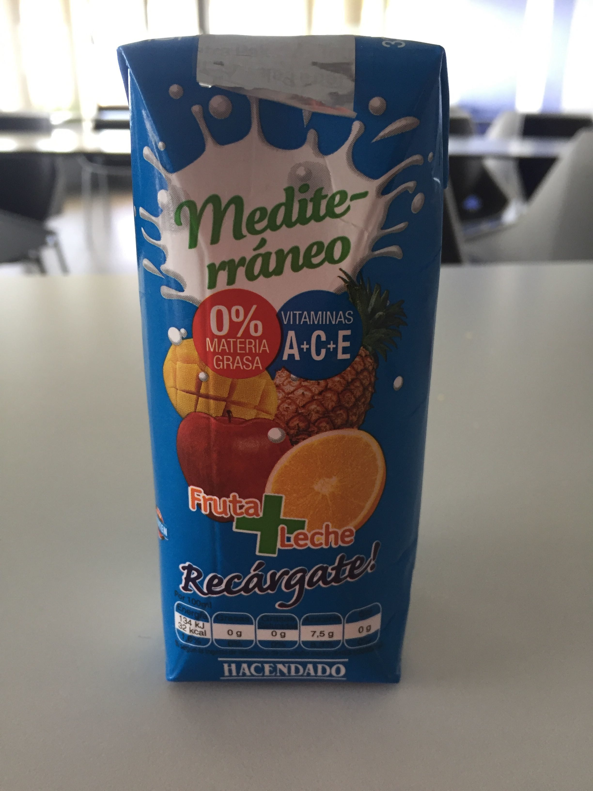 Zumo + leche mediterraneo - Producto - es