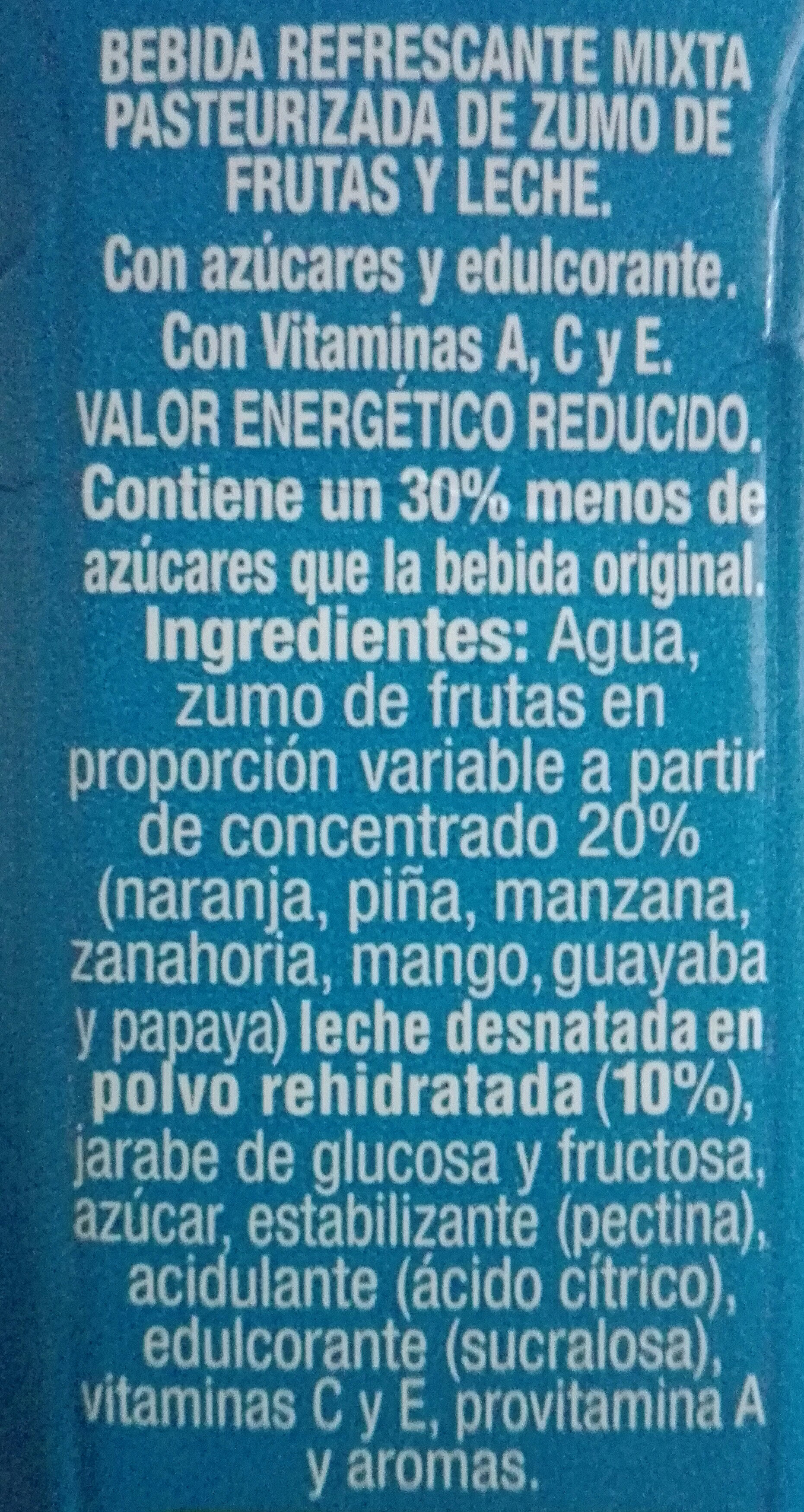 Zumo + leche mediterraneo - Ingredients - es