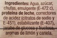 Horchata de chufa - Ingredients - es