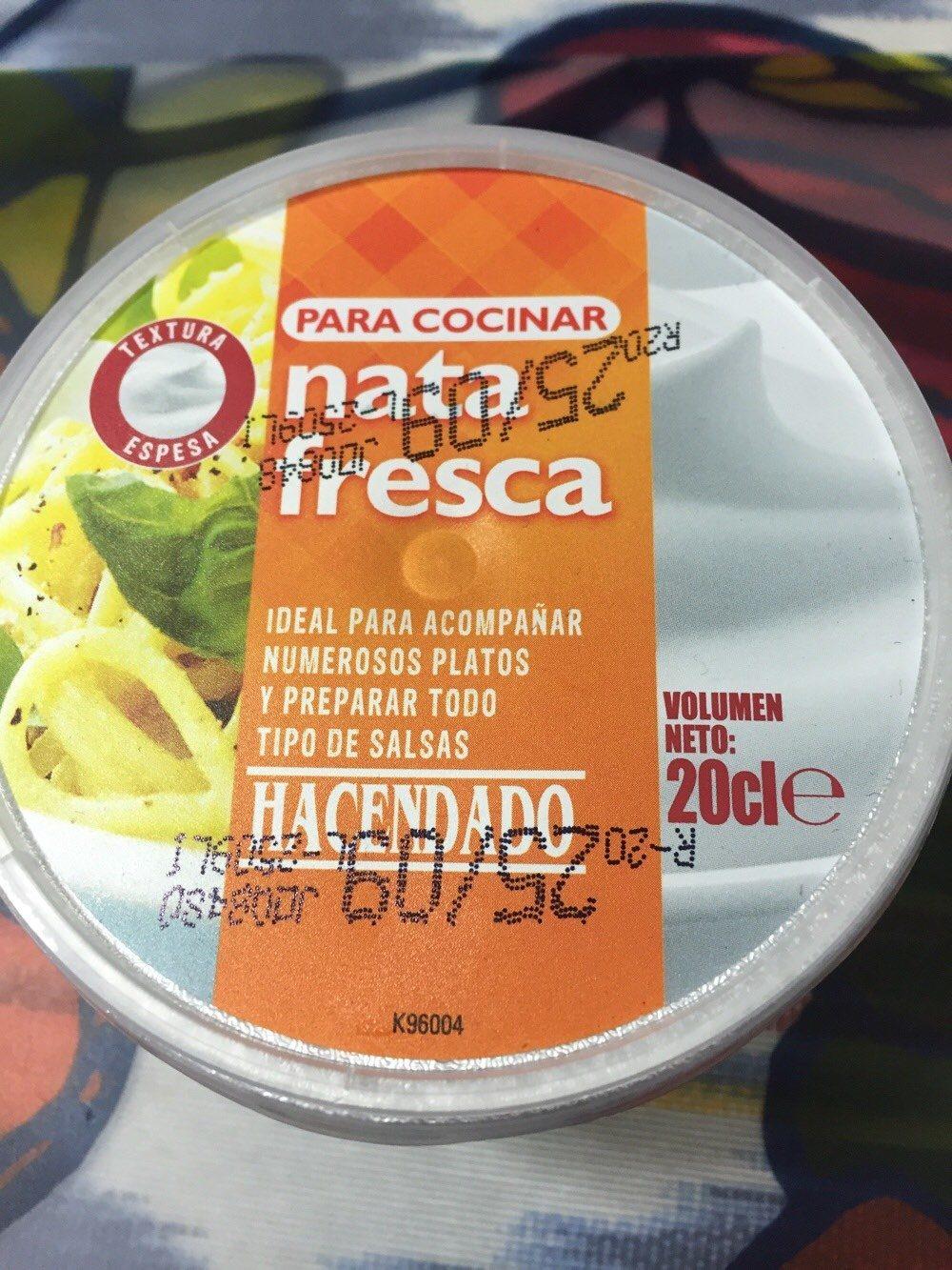 Nata fresca - Produit