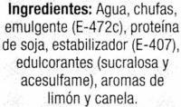 Bebida de chufa sin lactosa - Ingredients - es