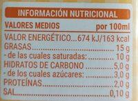 Nata ligera - Voedingswaarden - en
