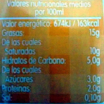 - Valori nutrizionali