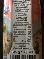 Leche Evaporada - Ingredients