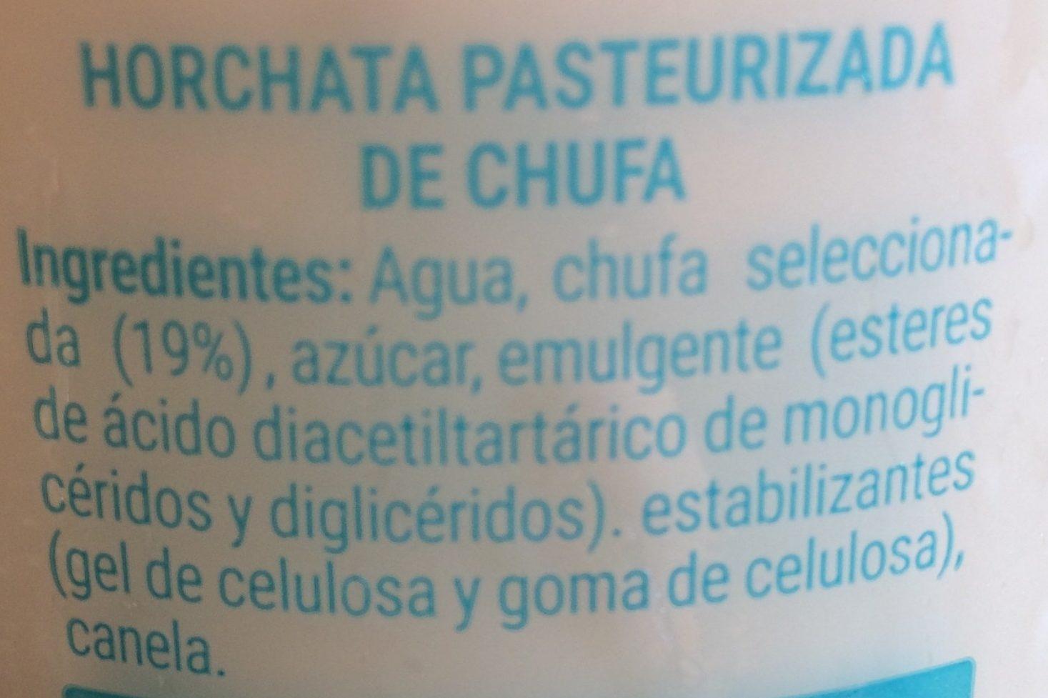 Horchata fresca - Ingredientes - es