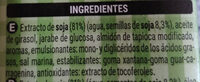 Crema soja - Ingredients - es