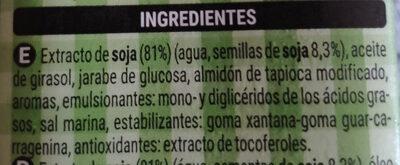 Crema Soja - Ingredients - es